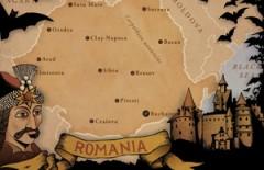 Karta över Rumänien