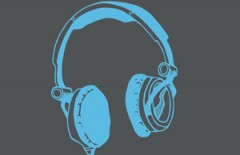 Headphones - illustartion för t-shirt