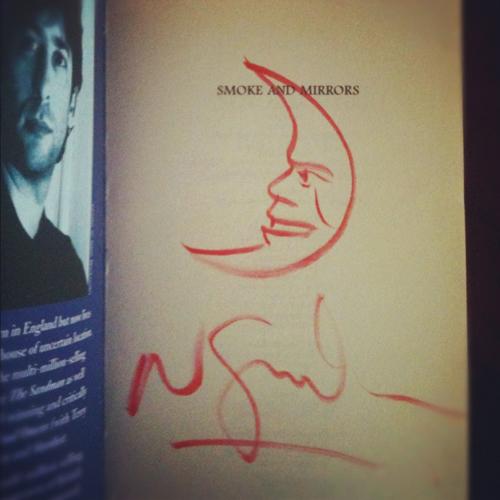 Bok signerad av Neil Gaiman