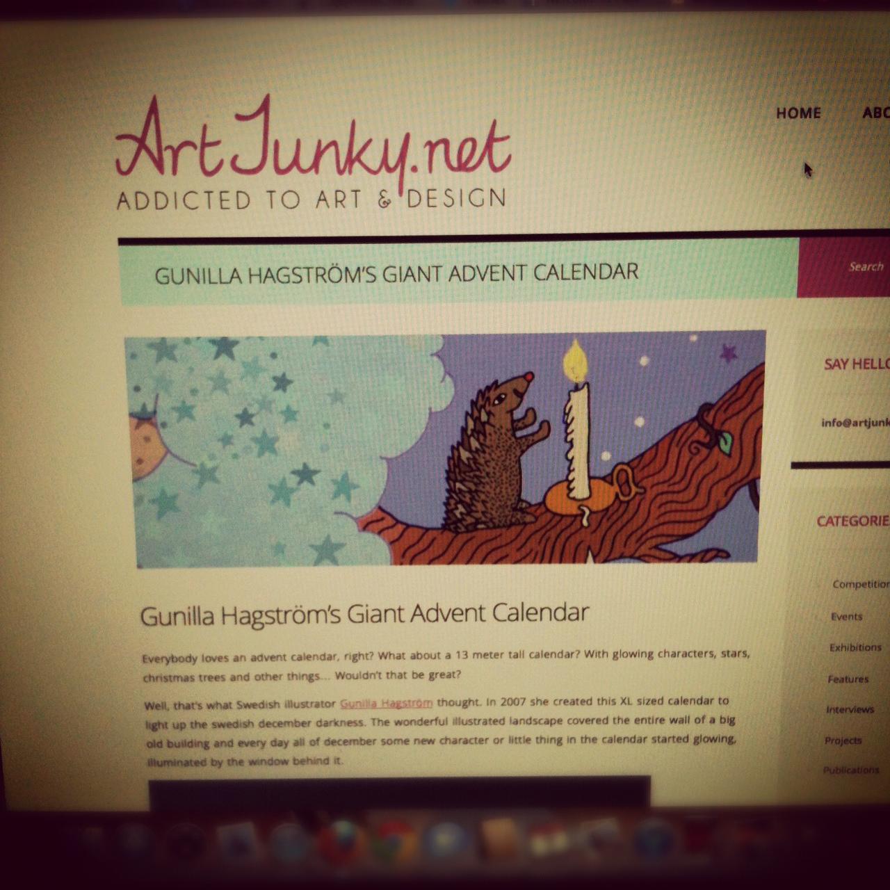 Min första artikel till Artjunky.net