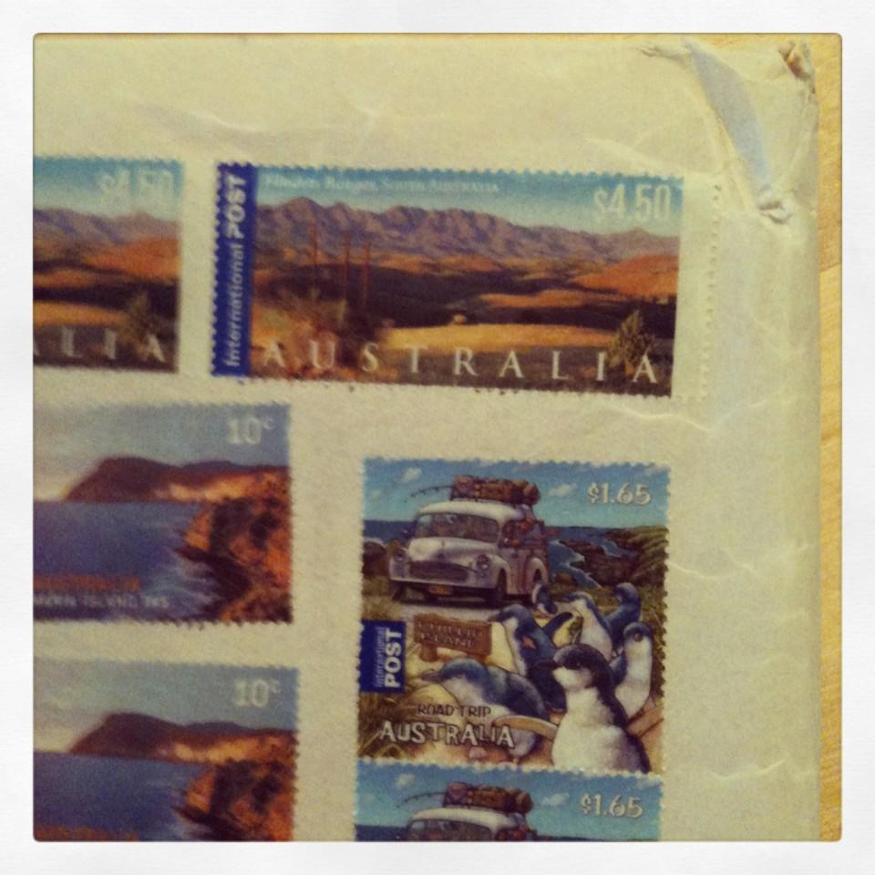 Paket från Australien