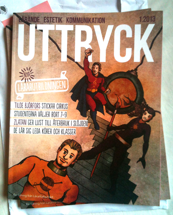 Omslagsillustration till tidningen Uttryck #1 2013