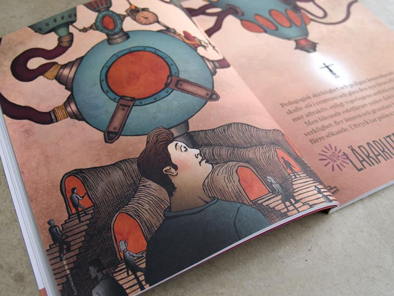 Uttryck – illustration till artikel om den nya lärarutbildningen