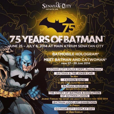75 years of Batman - poster