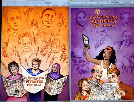 2 affischer för 8 Sidor