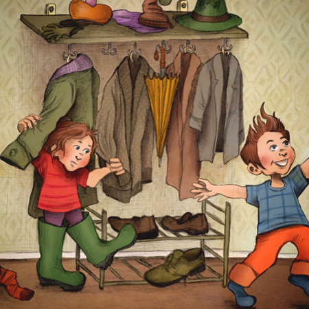 Illustration från kommande barnbok