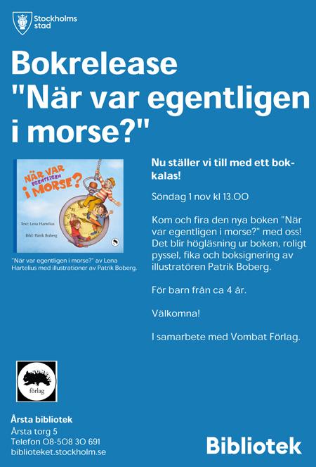 Affisch för bokrelease